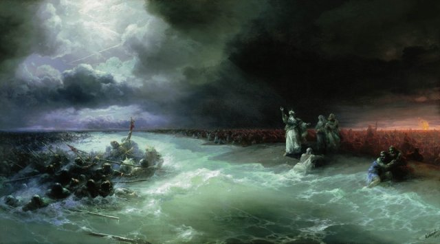 Ivan Aivazovsky, Passage of the Jews through the Red Sea (1891)
