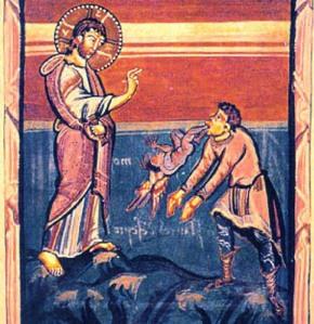 Jesus Healing the Gerasene, medieval image