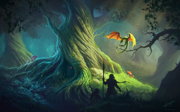 Old Tree Wallpaper by Deligaris@deviantart.com