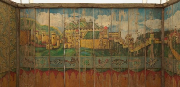 Painted Sukkah with a view of Jerusalem, Late 19th Century, Austria or South Germany