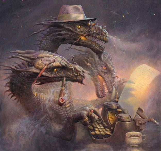 The Dragon Writer by 25kartinok@deviantart.com