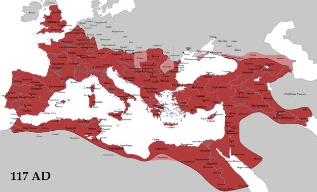 Roman Empire in 117AD