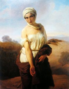 Francesco Hayez, A Portrait of a Woman as Ruth (1853)