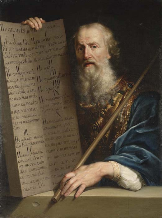 """Ten Commandments by A.Losenko (?)"" by Anton Losenko - http://www.university.kiev.uawww.uer.varvar.ru/arhiv/gallery/klassitsizm/losenko/losenko13.html. Licensed under Public Domain via Wikimedia Commons - https://commons.wikimedia.org/wiki/File:Ten_Commandments_by_A.Losenko_(%3F).jpg#/media/File:Ten_Commandments_by_A.Losenko_(%3F).jpg"