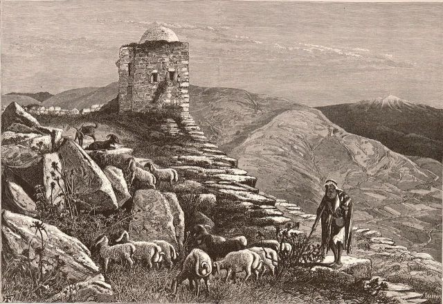 Herny Fenn, Ruins on the Summit of Mount Gerazim, On the Site of the Samaritan Temple (between 1881 and 1884)