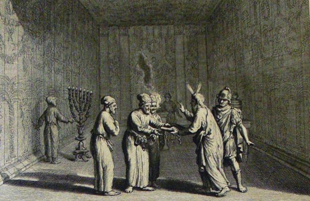 Moses Delivers the Law to the Priests, Phillip Medhurst Collection of Biblical images