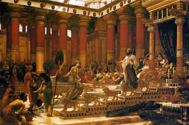 Edward Poynter, The Visit of the Queen of Shebe to King Solomon (1890)