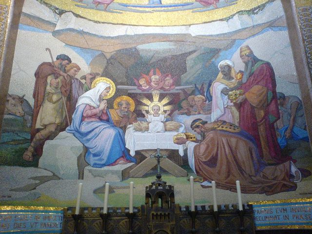 Mosaic in the Rosary Basilica, Lourdes