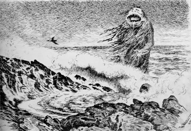 "Theodor Kittelsen, ""The Sea Troll"" (1887)"