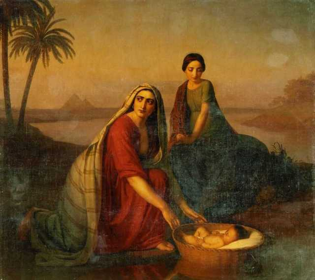 Alexey Tyranox, Moses Being Lowered into the Nile by His Mother (1839-1842)