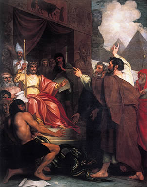 Benjamin West (1738-1820), Moses and Aaron Before Pharaoh