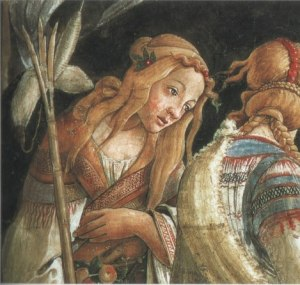Detail of Ziporah from Boticelli's the Trials of Moses (1481-82)